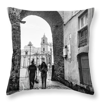 Throw Pillow featuring the photograph Arch Of The Rose Cadiz Spain by Pablo Avanzini