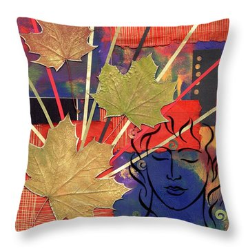 Michael The Angel Throw Pillow
