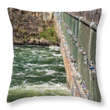 Augusta Canal Headgates - Augusta Ga Throw Pillow