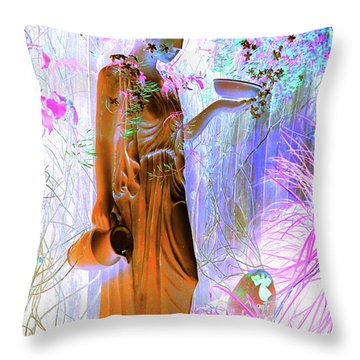 Awaiting For Your Return Throw Pillow