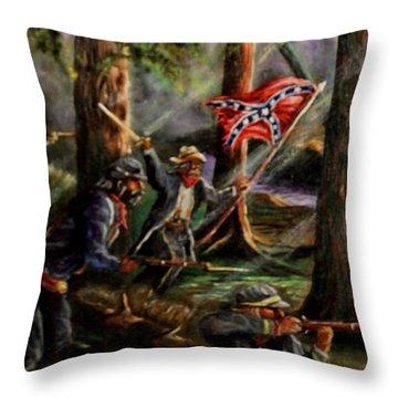 Battle Of Chancellorsville - The Wilderness Throw Pillow