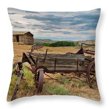 Bighorn Basin History Throw Pillow