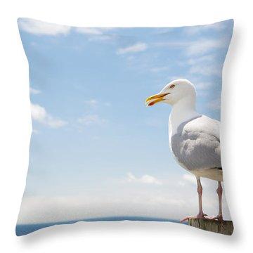 Adverts Throw Pillows