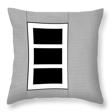 Black Tryptic Throw Pillow