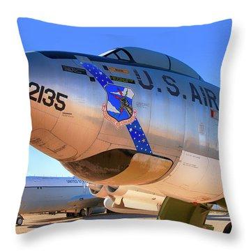 Boeing B47 Sac Bomber Throw Pillow