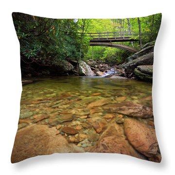 Boone Fork Bridge - Blue Ridge Parkway - North Carolina Throw Pillow