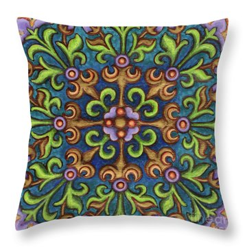 Botanical Mandala 8 Throw Pillow