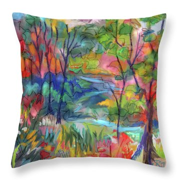 Bright Country Throw Pillow