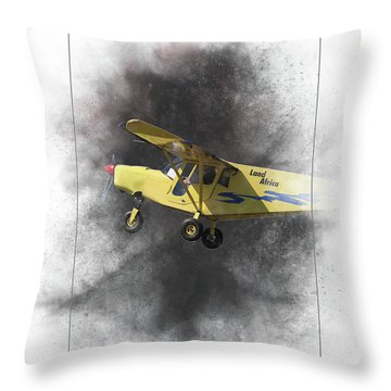 Brm Land Africa Painting Throw Pillow