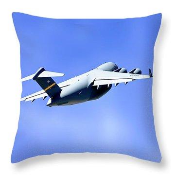C-17 Globemaster Throw Pillow