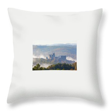 Chateau Beynac In The Mist Throw Pillow