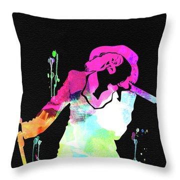 Christina Watercolor Throw Pillow