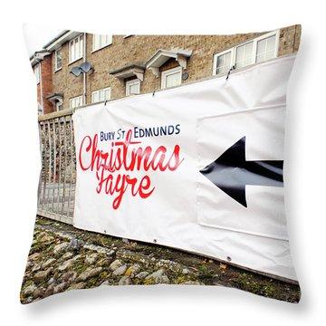 Christmas Fayre Sign Throw Pillow