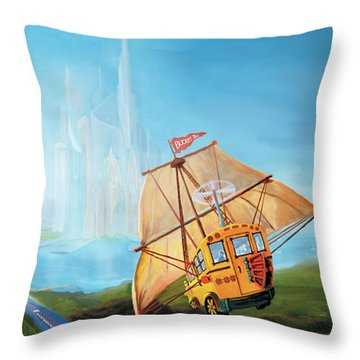 City On The Sea Throw Pillow