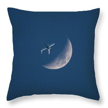 Close Encounter Of The Lunar Kind Throw Pillow
