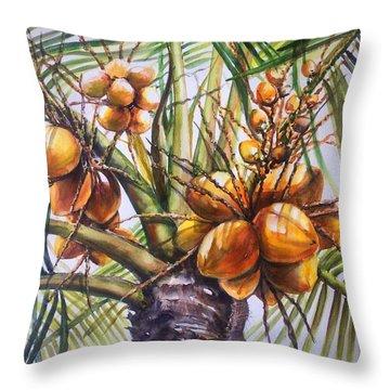 Coconut Tree Throw Pillow