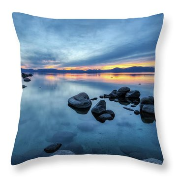 Colorful Sunset At Sand Harbor Throw Pillow