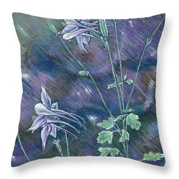 Columbine Song Throw Pillow