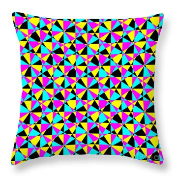 Crazy Psychedelic Art In Chaotic Visual Color And Shapes - Efg22 Throw Pillow