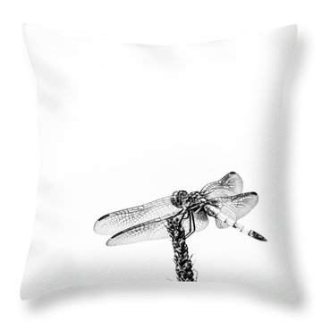 Crystal  Wings Throw Pillow