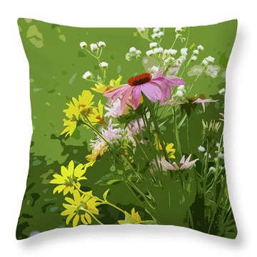 Cut Flowers Throw Pillow