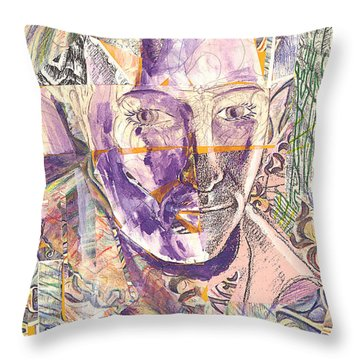 Cut Portrait Throw Pillow