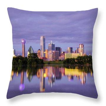Dallas Texas Cityscape Reflection Throw Pillow