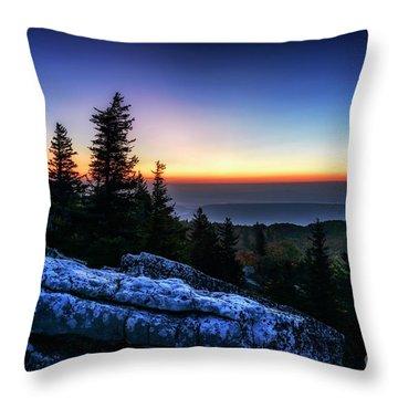 Dawn At Bear Rocks Preserve Throw Pillow
