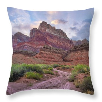 Desert And Cliffs, Vermilion Cliffs  Throw Pillow