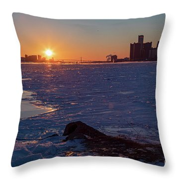 Detroit River Throw Pillow