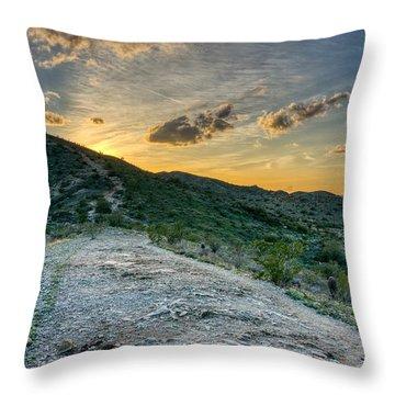 Dramatic Mountain Sunset  Throw Pillow