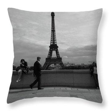Eiffel Tower, Tourist Throw Pillow