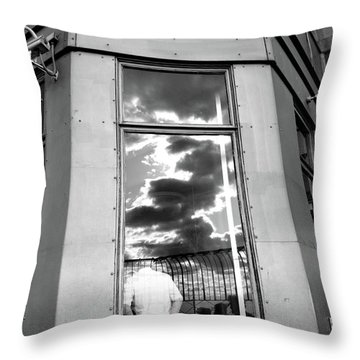 Throw Pillow featuring the photograph Empire State by Edward Lee
