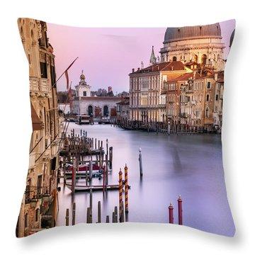 Evening Light In Venice Throw Pillow