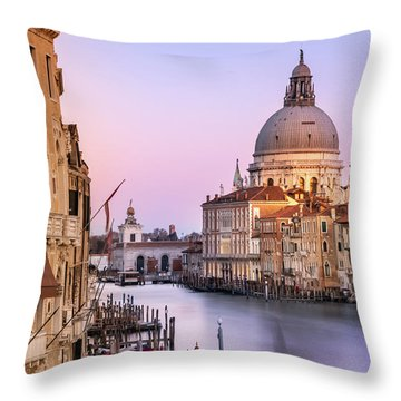 Evening Light In Venice Throw Pillow