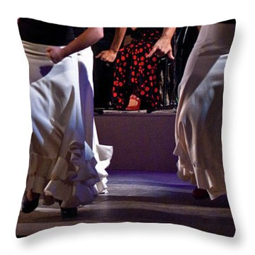 Throw Pillow featuring the photograph Flamenco 39 by Catherine Sobredo