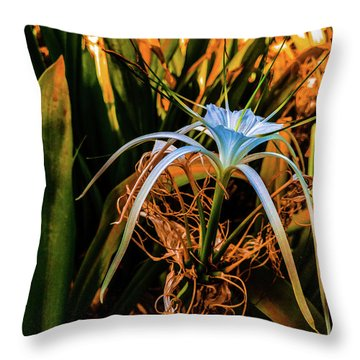 Flower With Tentacles Throw Pillow