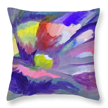 Throw Pillow featuring the painting Flowering Abstract 3 by Dobrotsvet Art