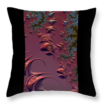 Fractal Playground In Pink Throw Pillow