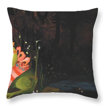 Frogs Of Silver Lake Throw Pillow