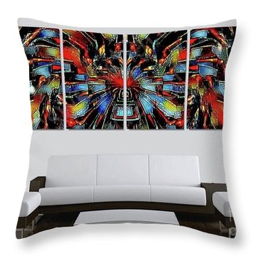 Funny Abstract Overlay Throw Pillow