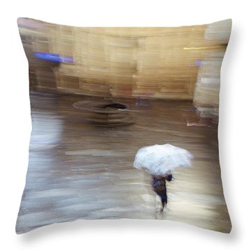 Throw Pillow featuring the photograph Gentle Rain by Alex Lapidus