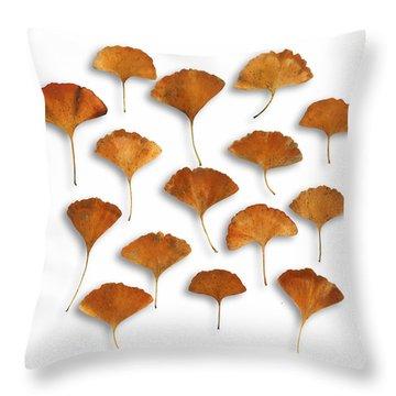 Gingkos Fall Throw Pillow
