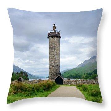 Glenfinnan Monument Throw Pillow
