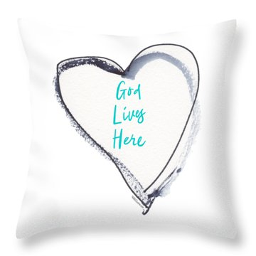 God Lives Here Throw Pillow