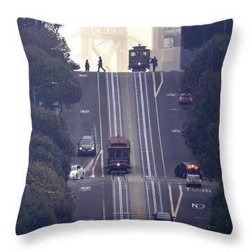 Throw Pillow featuring the photograph Good Morning San Francisco by Quality HDR Photography