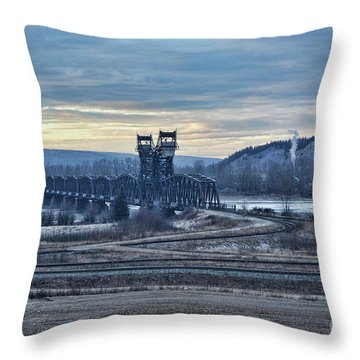 Grand Trunk Pacific Railway Throw Pillow