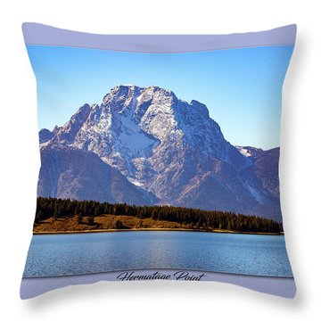 Throw Pillow featuring the photograph Hermitage Point by Pete Federico