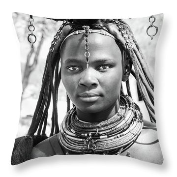 Himba Girl Throw Pillow