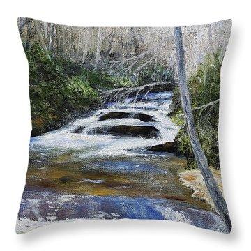 Horsepasture River Throw Pillow